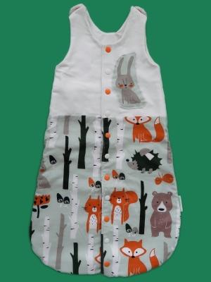 Schlafsack mit Waldtieren + Hase